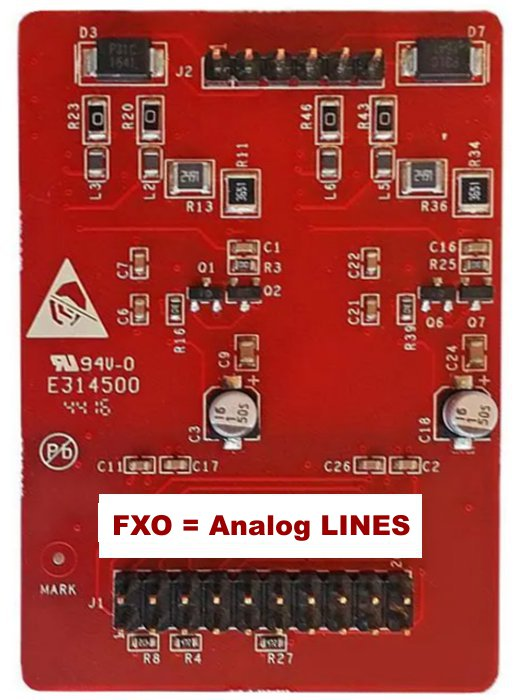 Yeastar FXO - O2 module expansion card