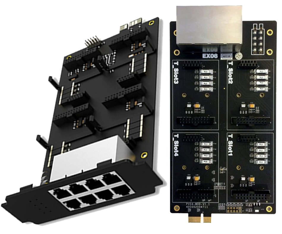 Yeastar EX08 expansion card for FXO / FXS port modules