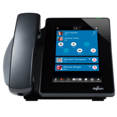 Digium D80 tablet style IP Phone front desk view