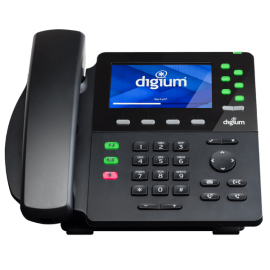 Digium D65 front desk ip phone view