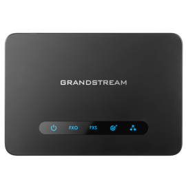 GrandStream HT813 analog telephone line adapter top view