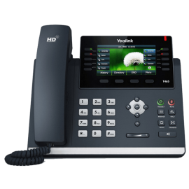 YeaLink T46S ip desk phone - expandable - work phone front view