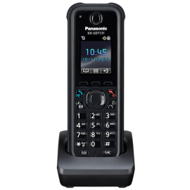Panasonic Rugged Cordless IP Phone - KX-UDT131 front view on charger