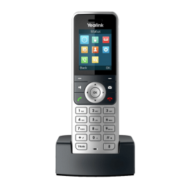 W53H cordless handset on charging cradle front