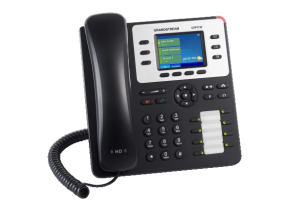 GrandStream GXP2130 ip desk phone left view