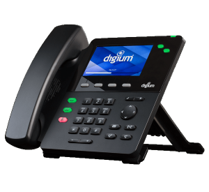 Digium D60 IP office phone front right side view