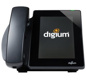 Digium D80 tablet style IP Phone DIGIUM LOGO SCREEN