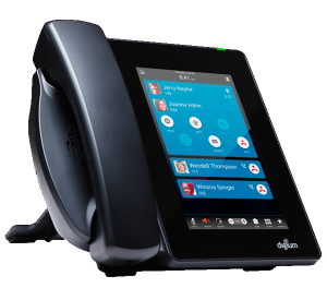 Digium D80 tablet style IP Phone  front left view