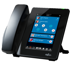 Digium D80 tablet style IP Phone front right view