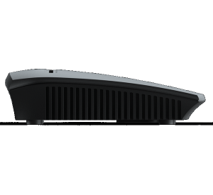 snom M300 cordless base server unit side view
