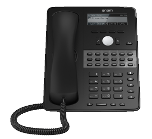 Snom D725 mid-range office ip phone - front view