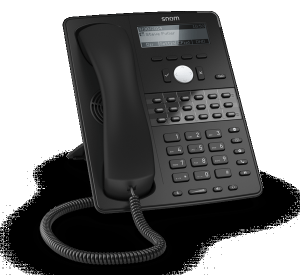 Snom D725 mid-range office ip phone - left side view