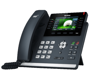 YeaLink T46S ip desk phone - expandable right front view