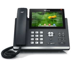 Yealink SIP-T48S ip phone front desk view