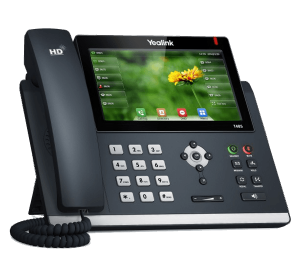 Yealink SIP-T48S ip phone front desk left view