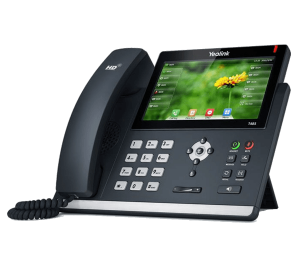 Yealink SIP-T48S ip phone front right desk view