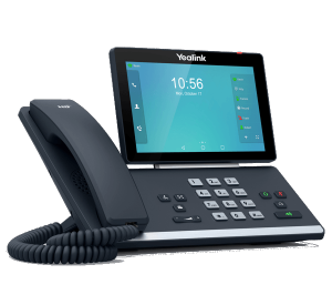 Yealink T56A IP Business High End IP Phone - left side view