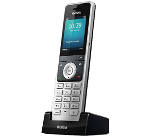 YeaLink W60P Cordless IP Phone charging cradle  side view