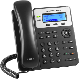 GXP1625 basic ip phone front left view