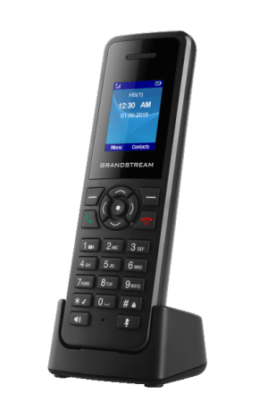 Grandstream DP720 handset on charging cardle