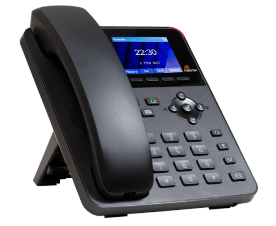 Digium A22 IP Phone for asterisk left side view