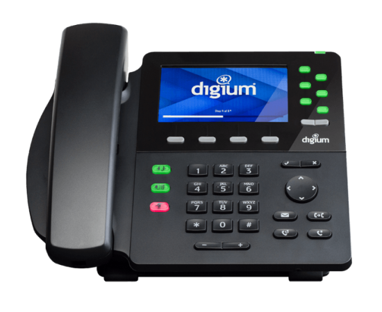 Digium D65 front desk ip phone view