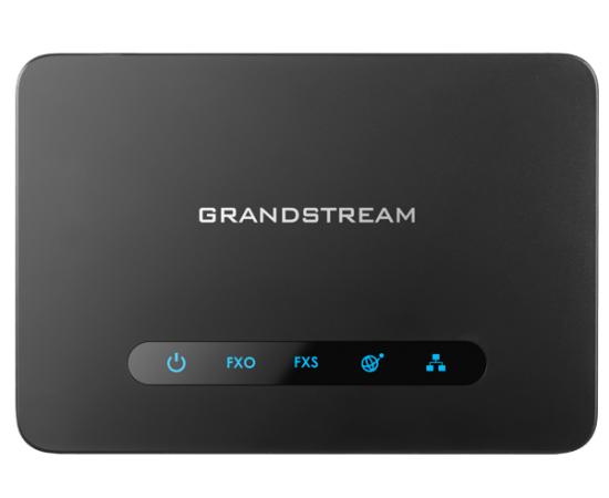 GrandStream HT812 phone ata adapter sip voip top view