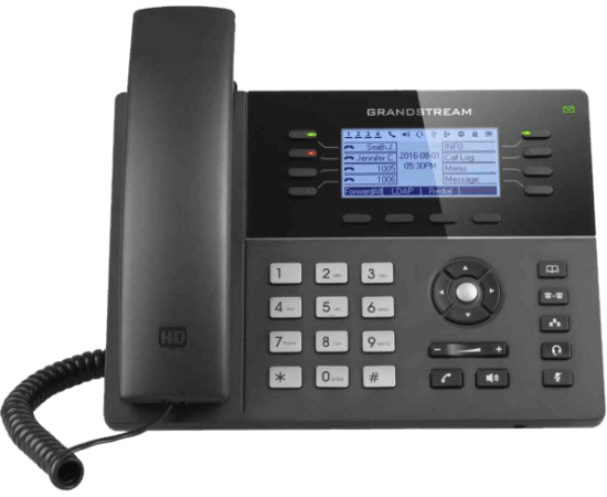 Grandstream GXP1780 ip desk work business phone front