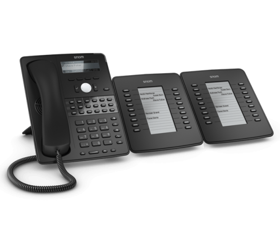 Snom D725 mid-range office ip phone - with two D7 expansion modules
