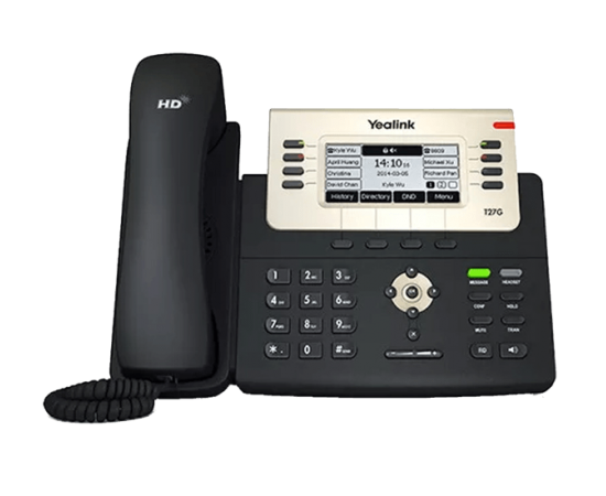 YeaLink T27G ip office phone front view