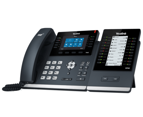 YeaLink T46S ip desk phone - expandable with EX40 expansion module