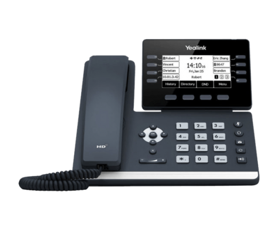 T53W Yealink wifi bluetooth ip phone front view