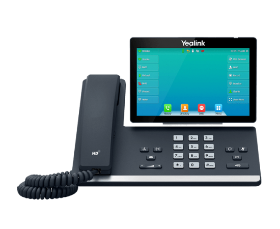 YeaLink T57W wifi bluetooth ip phone front view